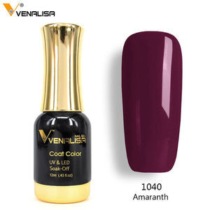 Venalisa™ 12ml Soak off UV LED Organic Nail Gel Polish {Color: 1001-1055}