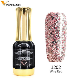 Venalisa™ 12ml Platinum Glitter Effect Nail Gel Polish