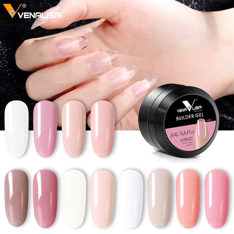 Venalisa™ 15ml 12 Colors Nail Extension Builder Gel