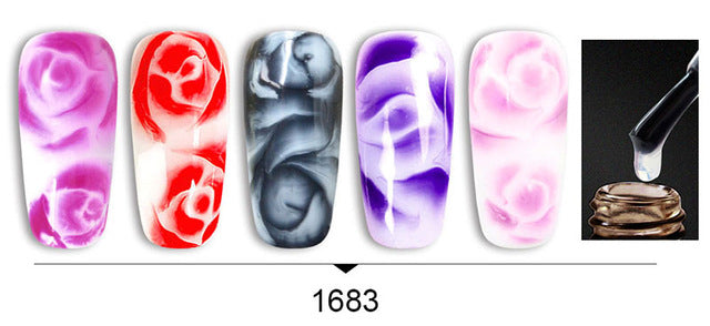 Venalisa™ 7.5ml 6pcs Rose Flower Blooming Effect Nail Gel Kits