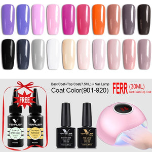Venalisa™ 36W Nail Lamp with 20 Pcs Nail Gel Polish Set