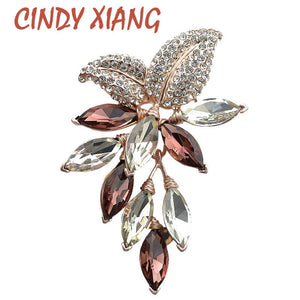 CINDY XIANG Big Crystal Flower Large Brooch Grape Pins and Brooches Wedding Jewelry Bijouterie Corsage Dress Coat Accessories - Products & Products Store