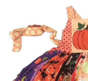 Pumpkin dress baby girls fashion boutique strap sleeveless dresses kids summer halloween children clothing - Products & Products Store