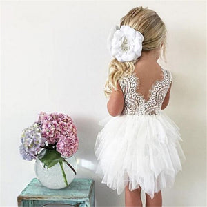 Summer Dresses For Girl 2018 Girls Clothing White Beading Princess Party Dress Elegant Ceremony 4 5 6 Years Teenage Girl Costume - Products & Products Store