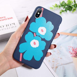 Moskado Flowers Phone Case For iPhone X XR XS Max 7 8 6 6s Plus 5 5s SE Chrysanthemum Floral Soft TPU Silicone Back Cover Cases - Products & Products Store