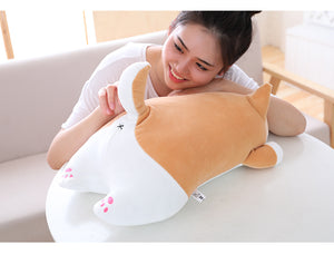 Cute Fat Shiba Inu Dog Plush Toy Stuffed Soft Kawaii Animal Cartoon Pillow Lovely Gift for Kids Baby Children Good Quality - Products & Products Store