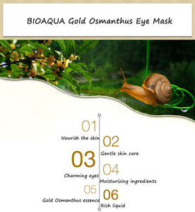 BIOAQUA Gold Osmanthus Eye Mask Eye Patches  Remove Dark Circles Eye Bag Collagen Gel Protein Sleep Patche  Eye Care - Products & Products Store