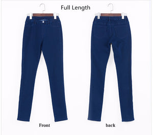 Women Jeans Plus Size Casual high  waist summer Autumn Pant Slim Stretch Cotton Denim Trousers for woman Blue black 4xl 5xl 6xl - Products & Products Store
