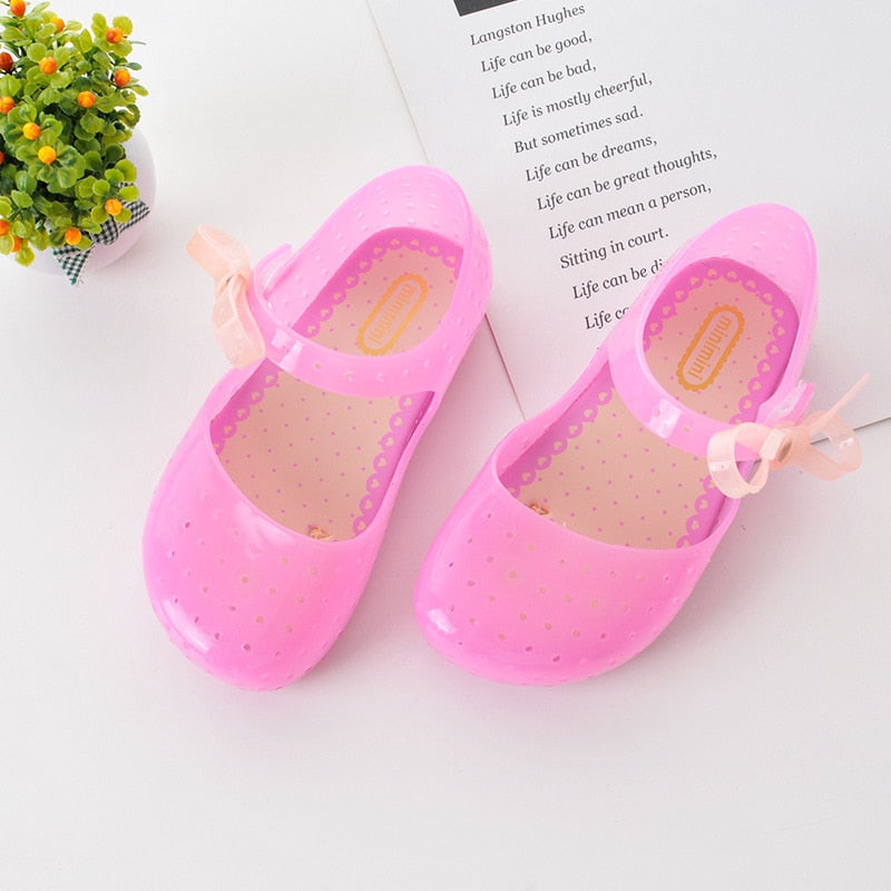 Summer Girls LED Sandals Crystal Shoes Girl Jelly Sandals Children Sandals Baby Jelly Shoes Bow-knot Girls Glowing Luminous Shoe - Products & Products Store