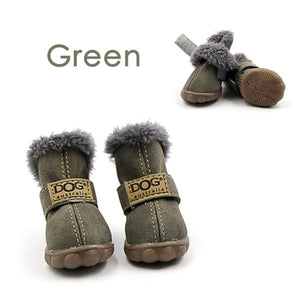 Pet Dog Shoes Winter Super Warm 4pcs/set Dog's Boots Cotton Anti Slip XS 2XL Shoes for Small Pet Product ChiHuaHua Waterproof - Products & Products Store