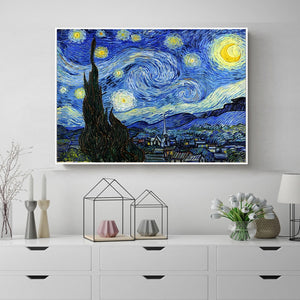 Starry Night Moonlight Van Gogh Famous Artist Impressionism Painting Art Print Poster Wall Pictures Canvas Painting Decoration - Products & Products Store