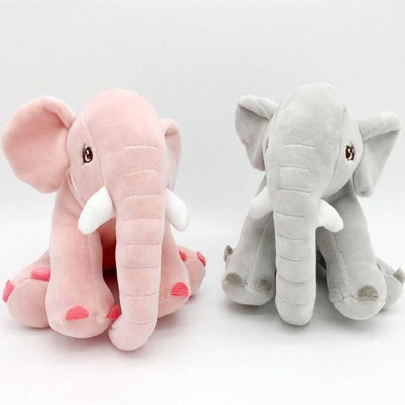 Elephant doll plush toy feather cotton filled baby puff pillow baby room ornament pillow - Products & Products Store
