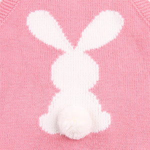 Cute Newborn Baby Boy Girls Bunny Knitting Wool Pom Pom Romper Jumpsuit Easter Outfits Set Sleeveless baby boy girls clothes - Products & Products Store
