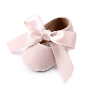 Baby Girl Shoes Riband Bow Lace Up PU Leather Princess Baby Shoes First Walkers Newborn Moccasins For Girls - Products & Products Store