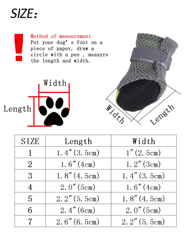 4pcs/set Waterproof Anti-slip Pet Shoes for Small Dogs Cats Chihuahua Yorkie Thick Snow Dog Boots Socks - Products & Products Store