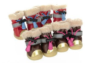 Pet Boots Dog Shoes Puppy Winter Warm Cotton Boots Four Colors Dog Shoes Warm - Products & Products Store