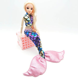 Handmade Dolls Party Dress Gown Skirt Fashion Clothes For Barbie Doll Genuine Mermaid Tail Dress Baby Toy - Products & Products Store