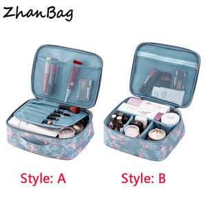 Travel Portable Cosmetic Bag DIY Organizer Makeup Bag For Women Cosmetics Men Shaving Kit - Products & Products Store