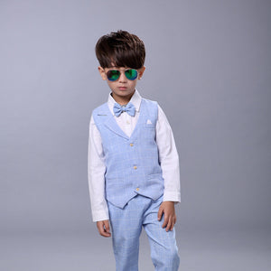 Kids sets for Boys Formal Tuxedo Dress Suits kids Weeding Sets Vest Pants 2pcs Costumes Children Gift Boys Birthday Suit Set - Products & Products Store