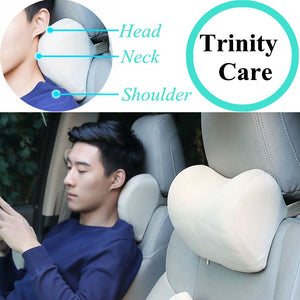 1PCS Car Headrest Neck Pillow for seat chair in auto Memory Foam cotton mesh cushion Fabric Cover soft Head rest travel support - Products & Products Store
