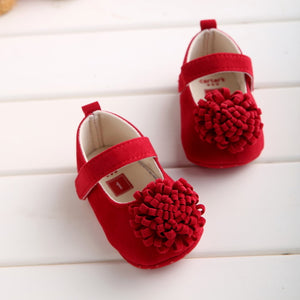 Candy Colors Newborn Baby Prewalker Soft Bottom Anti-slip Shoes Footwear Classic Princess Girl Crib Mary Jane Big Flower Shoes - Products & Products Store