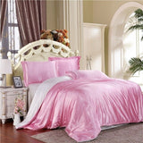 100% pure satin silk bedding set Full/Queen/King size bed sheet - Products & Products Store
