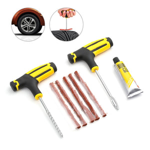 Car Tire Repair Tool Tire Repair Kit Studding Tool Set Auto Bike Tubeless Tire Tyre Puncture Plug Garage Car Accessories - Products & Products Store