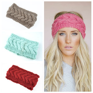 Knitted Twist Warm Hat Ear Warmer Headwrap HairBand Winter Hats for Women Fashion Ladies Beanie Hair Accessories - Products & Products Store
