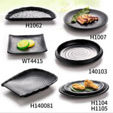 Black Melamine Frosted Dishes Plate Imitation Porcelain Tableware Restaurant Food Snacks Sushi Fish Dinner Plate Tray Dinnerware - Products & Products Store