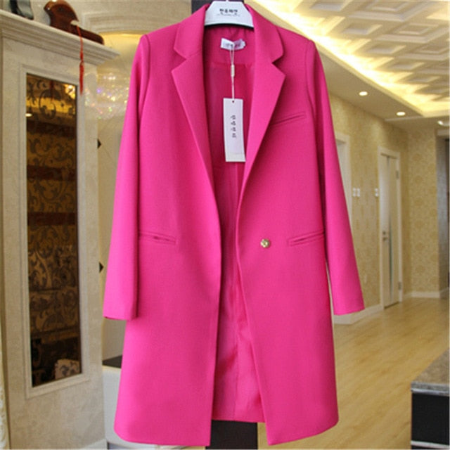 Spring Autumn Blazers Women Small suit Plus size Long sleeve jacket Casual tops female Slim Wild Blazers Windbreaker coat - Products & Products Store