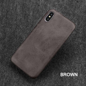 Ultra Thin Phone Cases For iPhone 6S 6 7 8 Plus XS Max Cover Leather Skin Soft TPU Silicone Case For iPhone XR X Shell - Products & Products Store