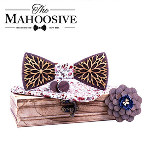 New Design 100% Wood Men Tie Classic Business Neck Wooden bow Tie For Men Suit For Wedding Party Necktie - Products & Products Store