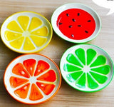 Dessert ceramic small plate Lovely fruit dishes creative tableware sushi set pickles Cold dish set Fruits 4pcs set 9.8*1.9 cm - Products & Products Store