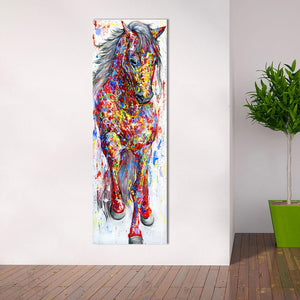 QKART Wall Art Painting Canvas Print Animal Picture Animal Prints Poster The Standing Horse For Living Room Home Decor No Frame - Products & Products Store