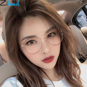 Zilead Polygon Metal Anti Blue Light Blocking Glasses Frame Men & Women Computer Games Goggles Eyeglasses Optical Spectacle Frame - Products & Products Store