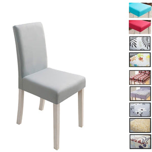 Solid Color Chair Cover Spandex Stretch Elastic Slipcovers Stretch Chair Covers For Dining Room Kitchen Wedding Banquet Hotel - Products & Products Store