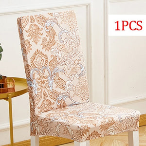 Cross pattern Removable Chair Cover Stretch Elastic Slip covers Restaurant For Weddings Banquet Folding Hotel Chair Covering 1pc - Products & Products Store