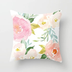 Flower Pattern Decorative Cushion Cover Pillow Pillowcase Polyester 45*45 Throw Pillows Home Decor Pillowcover 40844 - Products & Products Store