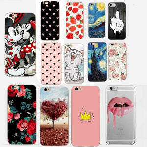 For Fundas iPhone 7 Case Cover Apple iPhone X XS 5 5S SE 6 6S 7 8 Plus Love Heart Couple Phone Back Case For iphone 6s 6 s capas - Products & Products Store