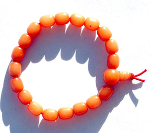 Bodhi Root Bracelet - 8 MM (Amber Color)