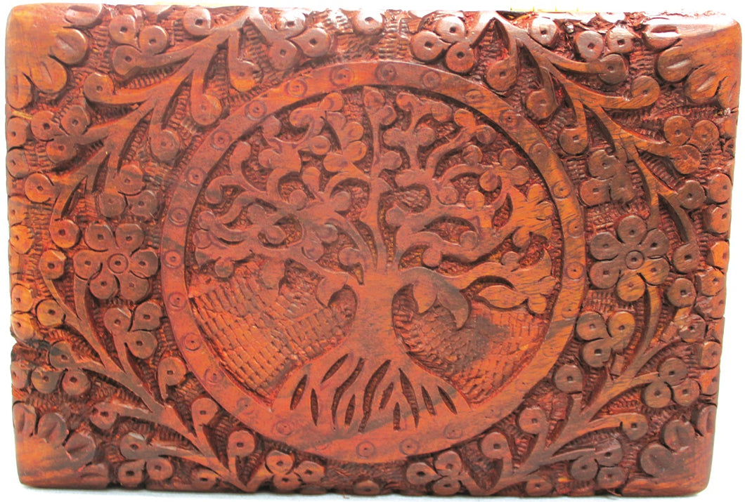 Rosewood Floral Tree of Life Box