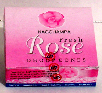 Fresh Rose Dhoop Cone