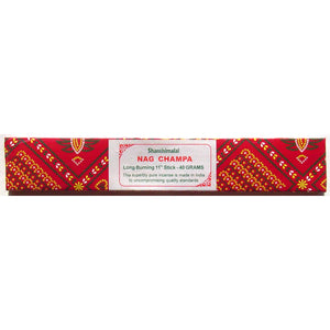 Shanthimalai (Red) Nag Champa - 40 gram long