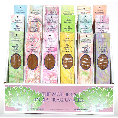 Mother India Nag Champa Display
