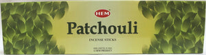 "Hem Patchouli 16"" Hex Tube"