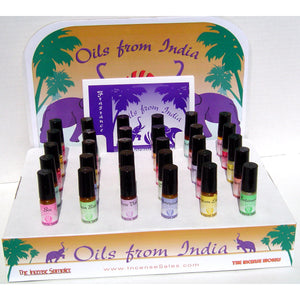 Oils from India Display Pack - 80 5ml. Bottles of Oils from India, 30 fragrance lists, display.