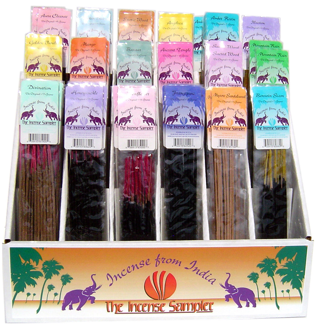 Incense from India - The Original Display - 18dozen