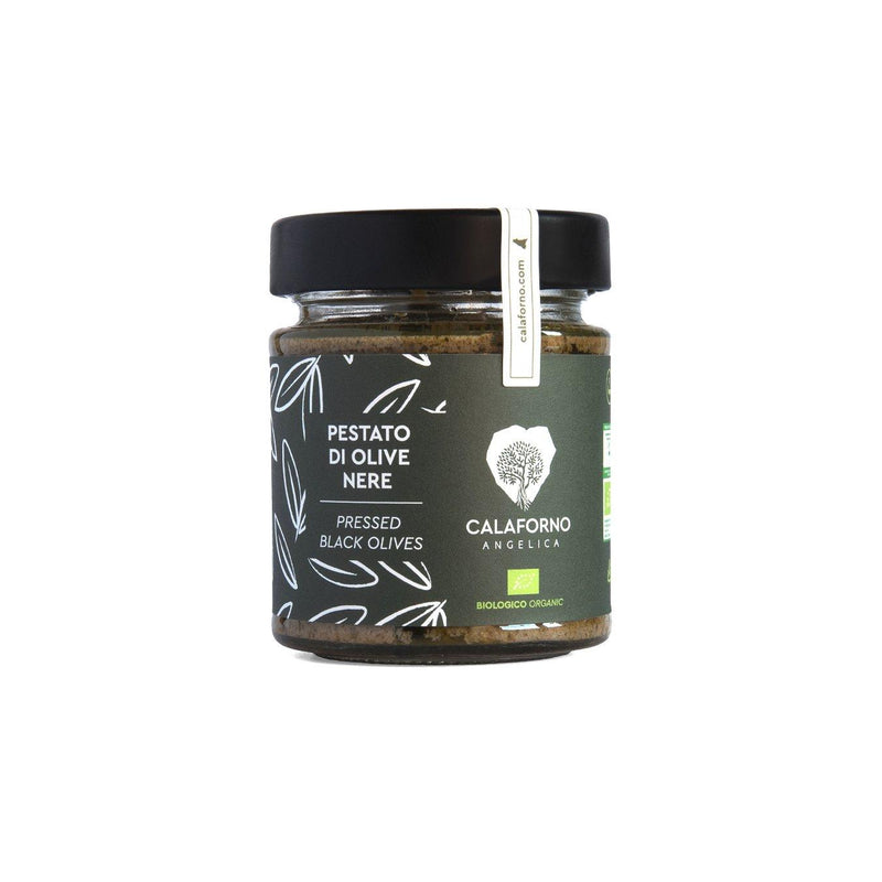 Pestato di Olive nere biologiche in vaso 160 g