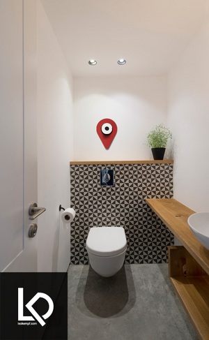 Location Pin Toilet Paper Storage