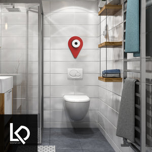 Location Pin GPS Toilet Paper Storage Art